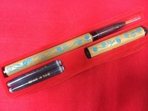 オリジナル筆ペン マルチ刀柄 水色