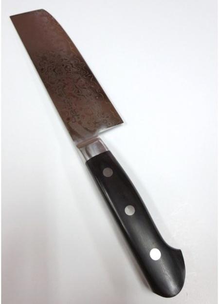 ダマスカス V金10号 積層17層鋼 磨き 薄刃